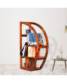Half Moon Wooden Bookshelf