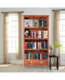 Classical Wood Bookshelf with 1 Drawer