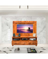SOLID WOODEN TV & LED STAND CUM SHELF