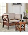 Solid Wood Aldrich Single Seater sofa