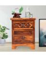 Solid Wood Swirl Bedside Table