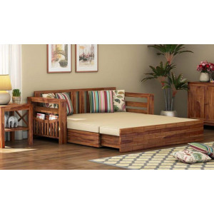Solid Wooden Furniture Wallet Sofa Cum Bed Without Pillow