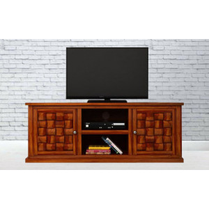 Sheesham Wood Niwar Patti TV Stand