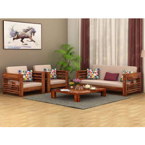 Furniturewallet Sheesham Wood Sofa Set for Living Room Without Pillow