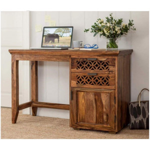 Sheesham Wood Study and Office Table With Natural Honey Finish