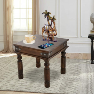 Wooden Deux Peg Side Table
