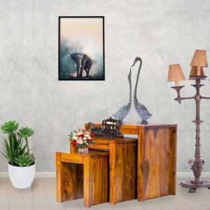 Solid Sheesham Wooden Stool set of 3