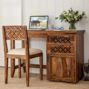 Sheesham Wood Study and Office Table With Chair