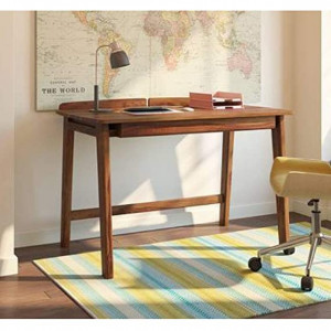 Study Table for Home & Office with Drawer (Natural Brown Finish)