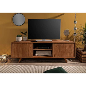 Wooden TV Unit with Sliding Door for Living Room