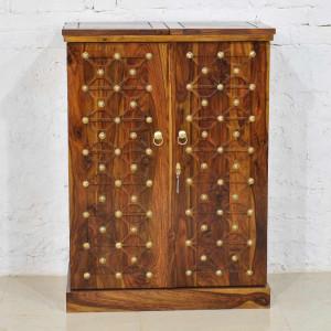 Sheesham Wood New Design Brass Bar