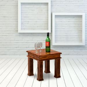 Kriska Solid Sheesham Wood Peg Side Table