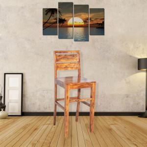 Sheesham Wooden Bar Chair