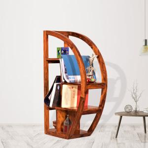 Half Moon Wooden Bookshelf