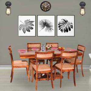 Harleston Solid Wood Six Seater Dining Table