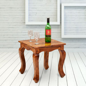 Alanzo Solid Sheesham Wooden Peg Side Table