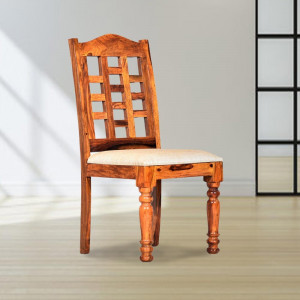 Solid Wood Zenith Sheesham Dining Table and Chair
