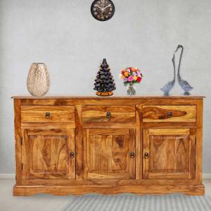 Solid Wood Sheehsam Siramika Sideboard Three Drawers