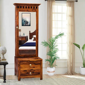 Solid Wood Kuber Dressing table and Mirror