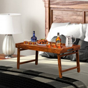 Sheesham Wood Foldable Breakfast Bed Tray Table