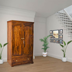 Solid Matik Sheesham Wood Wardrobe