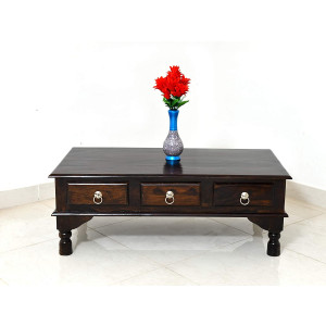 Solid Sheesham Wood 6 Drawer Center Table