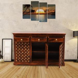 Solid Wood Maharaja Brass Sideboard