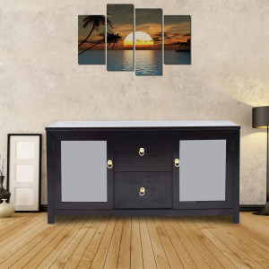 Solid Wood Emaada Sideboard Cabinet