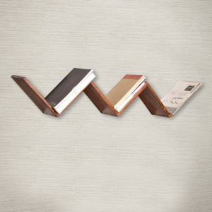 Multi-Purpose W-Shape Wooden Wall Shelf