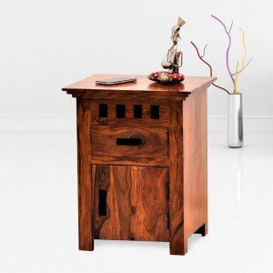 Neptuna Bedside Table Natural Finish
