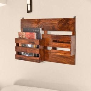 Wall Shelf Wooden Compact