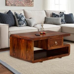 Double Top Drawer Striado Center Table