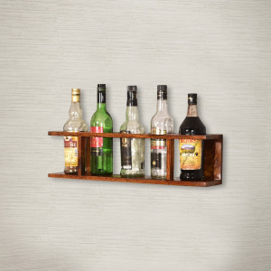 Sheesham Wine Wall Shelf