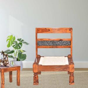 Solid Wood Rajasthani Backrest Pidha