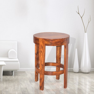 Sheesham Wooden Rounded Bar Chair
