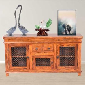 Solid Sheesham Wood Jali Sideboard Cabinet