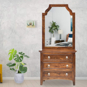 Wooden Allan Dressing table and Mirror