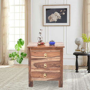 Sheesham Wooden Willock Bedside Table