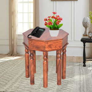 Wooden Eight Legs Peg Table