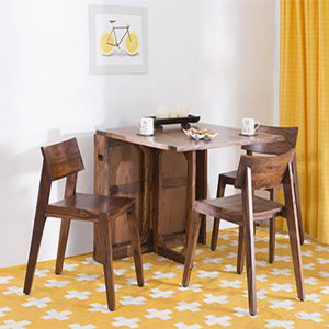 Wooden Foldding 6 Seater Dining Table and Chair
