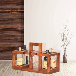 Solid Wood Basket Design Bar