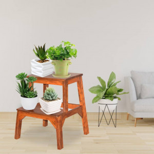Sheesham Wood Coco Small Wooden Stool