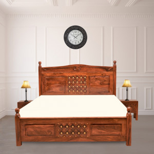 Sheesham Wooden Home Downey Bed Without Storage