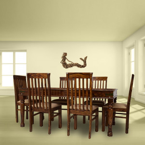 Solid Wooden 6 Seater Dining Table