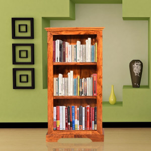 Solid Wood Small Jali Bookshelf